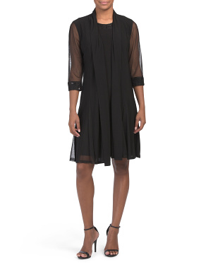 Petite Godet Duster Jacket Dress