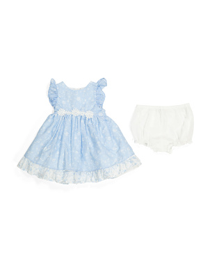 Infant Girls Lace Detail Dress