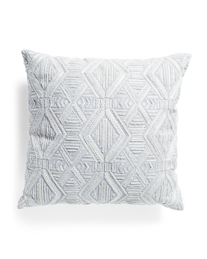 20x20 Chambray Geo Print Pillow
