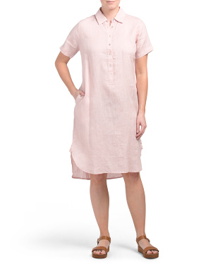 Linen Popover Shirt Dress