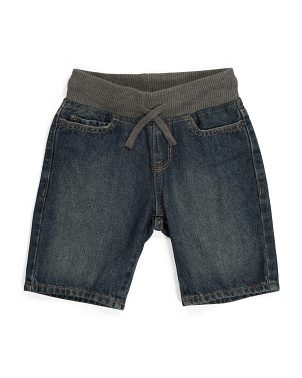 Boys Pull On Denim Shorts