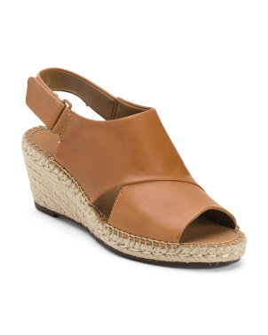 All Day Comfort Leather Espadrille Sandals