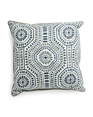 24x24 Boho Medallion Print Pillow