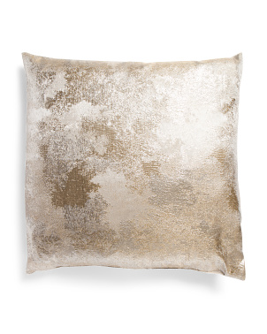 Made In Usa 22x22 Modern Metallic Pillow