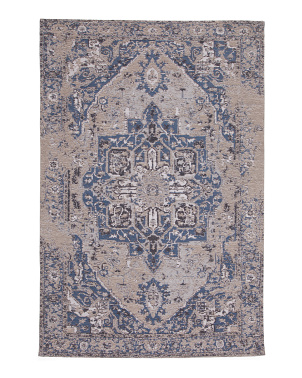 4x6 Vintage Medallion Low Pile Rug
