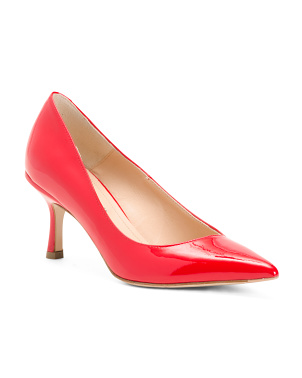 Made In Italy Patent Leather Mid Heel Pumps