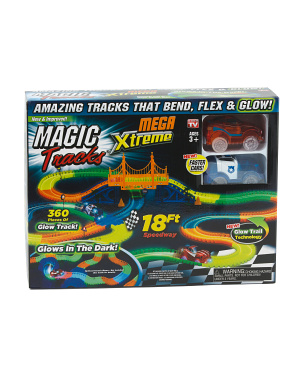 Glow In The Dark Mega Extreme Race Track