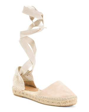 Made In Spain Flat Suede Sandals