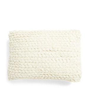 14x20 Textured Wool Blend Pillow