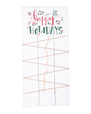 20x40 Happy Holidays Card Holder