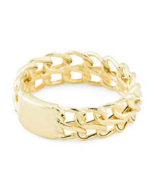 Made In Italy 14k Gold Double Linked Band Ring