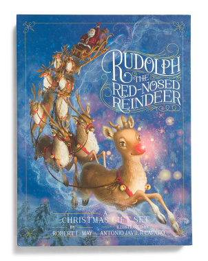 2pk Rudolph The Red Nosed Reindeer A Christmas Gift Set
