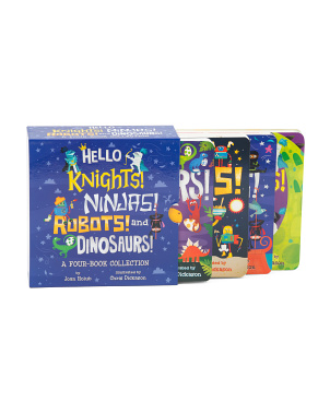 Set Of 4 Hello Knights, Ninjas, Robots, And Dinosaurs Board Books