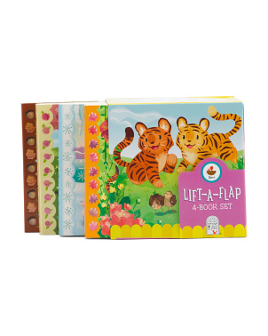 4pk Animal Babies Chunky Lift A Flap Books