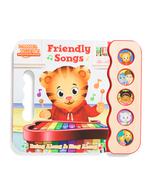 Daniel Tigers Friendly Songs 5 Button Sound Board Book