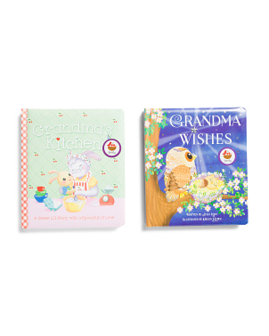 2pk Grandma Wishes & Grandmas Kitchen Books