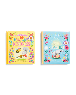 2pk Sunshine & Planting Seeds Of Kindness Padded Books