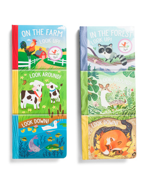 Set Of 2 Tall Board Books On The Farm And In The Forest