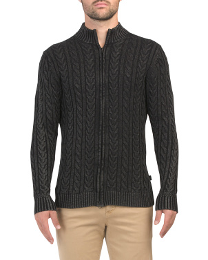 Northope Cable Zip Front Cardigan