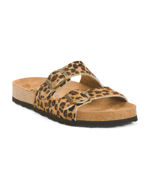 Made In Spain Leopard Leather Sandals