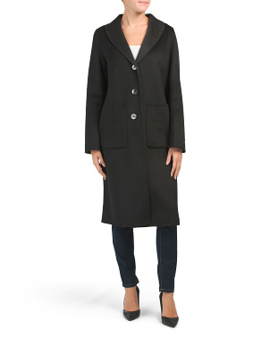Double-faced Jenna Wool Blend Coat