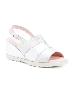 Made In Spain Wedge Leather Sandals