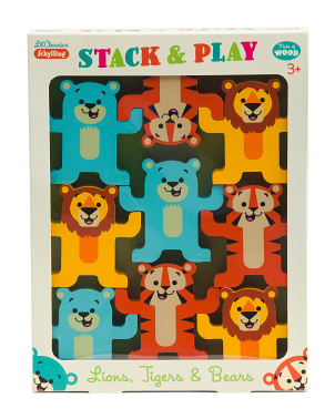 Little Classics Stack & Play Wooden Animals Toy