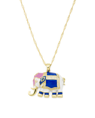 Sterling Silver Enamel Animal Necklace