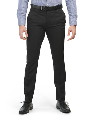Skinny Fit Stretch Solid Pants