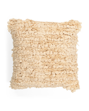 20x20 Textured Paper Loop Pillow