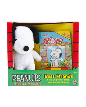 Look & Find Book And Cuddly Snoopy Box Set