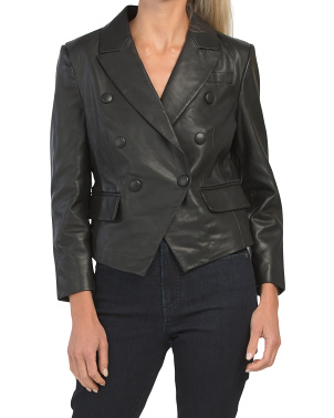 Leather Cropped Blazer