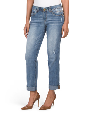 Ab Tech Cuffed Girlfriend Jeans