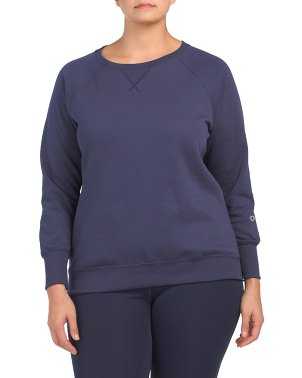 Plus Fleece Crew Neck Top