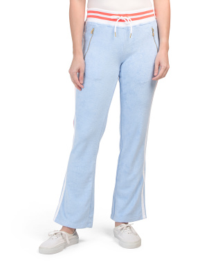 Terry Cloth Warm Up Slim Flare Pants