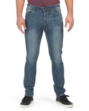 Riverside Slim Straight Stretch Denim Jeans