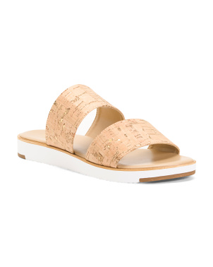 Made In Italy Double Band Cork Sandals