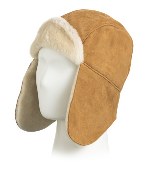 Kids Sheepskin Trapper Hat