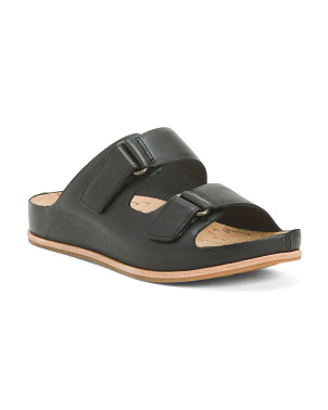 Comfort Flat 2 Strap Leather Sandals
