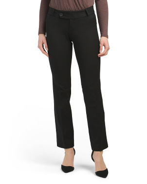 Petite 4 Pocket Stretch Woven Slim Pants
