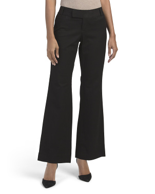 Petite 4 Pocket Stretch Woven Wide Leg Pants