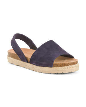 Made In Spain Slingback Suede Espadrilles