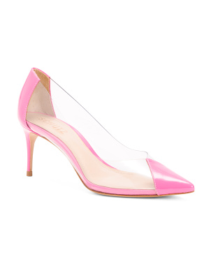 Made In Brazil Leather Transparent Detail Pumps