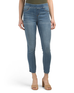 Pull On Ankle Skinny Jeans