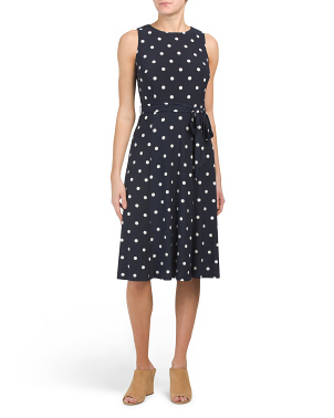 Jersey Flora Polka Dot Dress