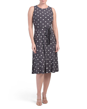 Jersey Polka Dot Midi Dress