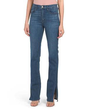High Rise Split Seam Bootcut Jeans