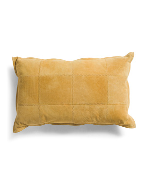 14x22 Genuine Suede Front Pillow