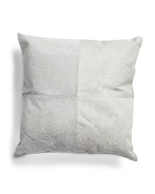 20x20 Genuine Haircalf Hide Pillow