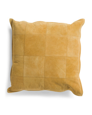 22x22 Genuine Suede Front Pillow